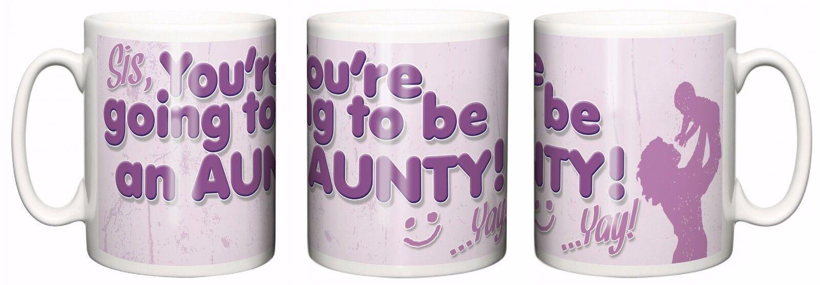 """Nouveau la tante Mug /""""Tu seras un Tantine/"""" Tasse bébé Grossesse annonce"""