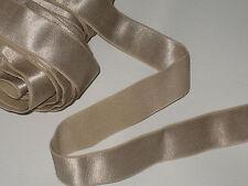 "4 yards 1"" width light bronze gold color heavy duty elastic band trim/ satin"