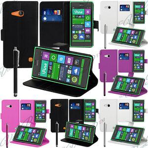 Accessoire-Housse-Etui-Coque-Portefeuille-Support-Video-Rabat-Nokia-Lumia-735