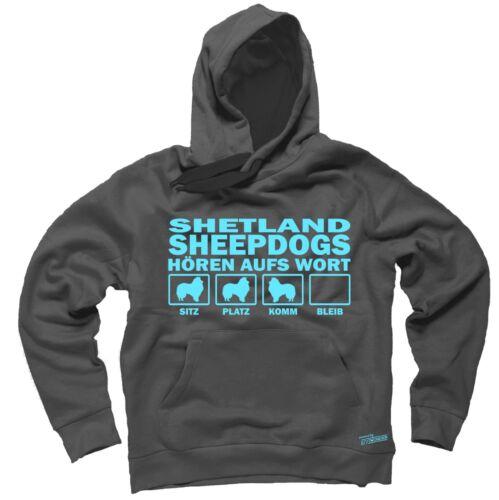 Sweatshirt SHETLAND SHEEPDOG HÖREN AUFS WORT by Siviwonder Hoodie Sheltie Hund