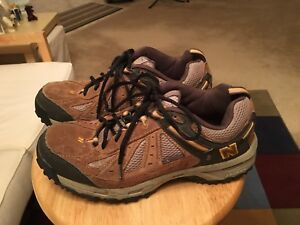 992d267f3e43d New Balance 645 Brown/Yellow & Gray Men's US8.5D Suede Trail Hiking ...