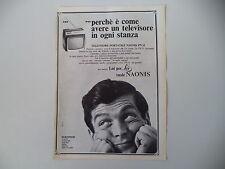advertising Pubblicità 1967 TELEVISORE NAONIS PN 11