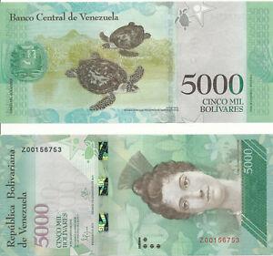 Venezuela-5000-Bolivares-18-8-2016-UNC-Pick-New-serie-Z-replacement