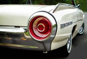 1960s-Tbird-Thunderbird-Ford-Sport-Car-1-Rare-Vintage-Carousel-White-Model-18