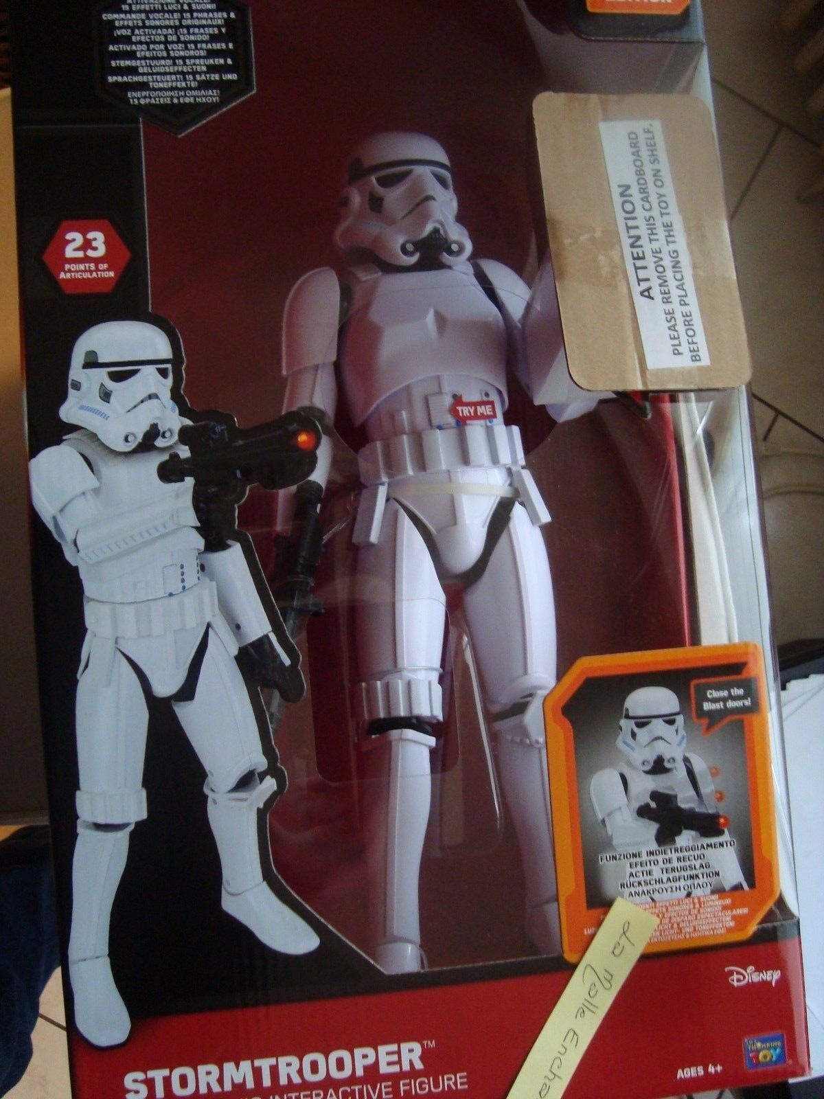 STAR WARS FIGÜRCHEN RIESIG INTERCATIVE 44 CM STORMTROOPER NEU IN SCHACHTEL