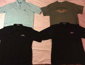 Pebble Beach Polo >> Details About Mens Lot Of 4 Polo T Shirt 2xl Cotton Poly Blends Pebble Beach Pudala Gildan