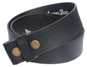 Ashford para hombre Snap en Cinturón de Cuero Real Sin Hebilla Q52036
