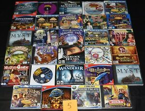 estate collection vintage PC CD-ROM computer video games, lot 5 of 5 boxes NICE