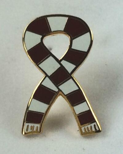 Ayr Utd Retro Bar Scarf Ribbon Gold Plated Quality enamel lapel pin badge