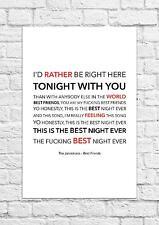 The Janoskians - Best Friends - Song Lyric Art Poster - A4 Size