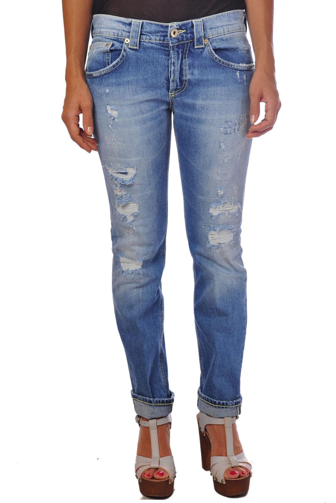 Dondup - Jeans-straight leg Pants - Woman - Denim - 375215C183616