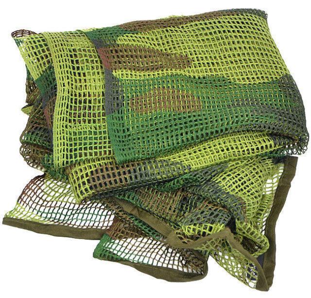 Mil-Tec Écharpe Filet Tactique Camouflage 190 x 90 cm Militaire Armée Woodland
