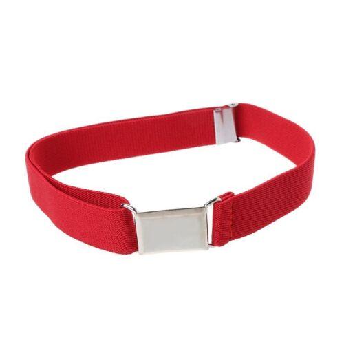Unisex High Elastic Canvas Belts for Boys Girls trap Belt Kids Adjustable Solid