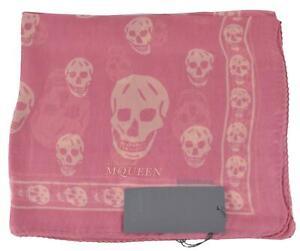 Alexander McQueen Multicolor New 110640 Red Grey Skull