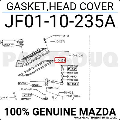 Mazda JF01-10-235A Engine Valve Cover Gasket