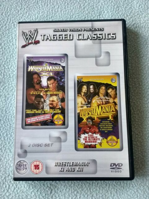WWE - Tagged Classics: Wrestlemania XI & XII (2-Disc DVD) Watched Once