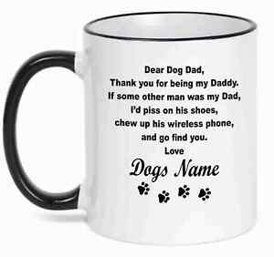 Details About Personalized Coffee Mug Dear Dog Dad Funny Mug With Your Dog S Name