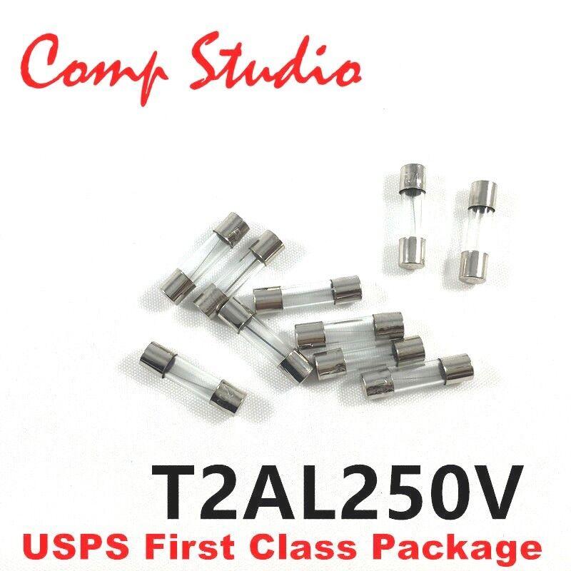 T2AH250V 20mm x 5mm Zeitverzögerung Träge T 2AH 2 Amp Keramik Sicherung