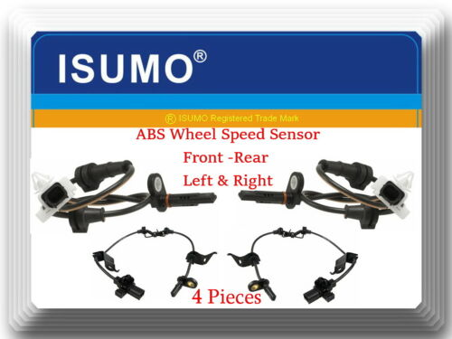 4 Piece ABS Wheel Speed Sensor Front Fits:TSX 2009-2014 Rear Left /& Right
