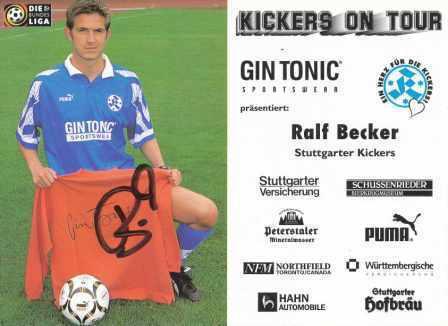 AK 2919 Ralf Becker SV Stuttgarter Kickers 97//98