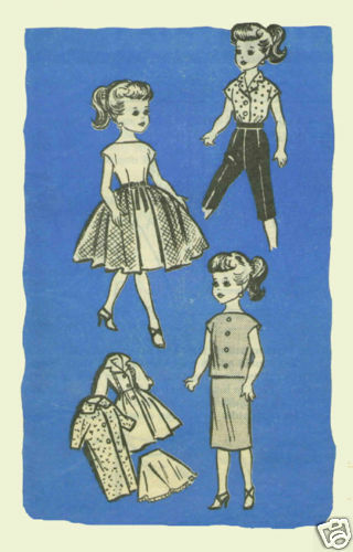 "For 10.5/""  Little Miss Revlon Doll Fashion Pattern #9302"