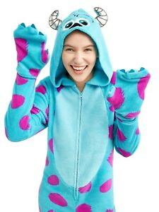 Disney-Sulley-MONSTER-039-S-Inc-039-Kitty-039-Adulto-M-Disfraz-PJ-039-S-Sulleypajamas