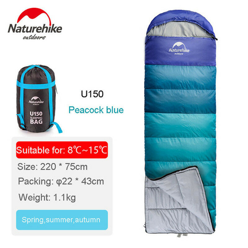 Naturehike Ultralight Sleeping borsa all'aperto campeggio Hire Can Be Spliced 8℃15℃