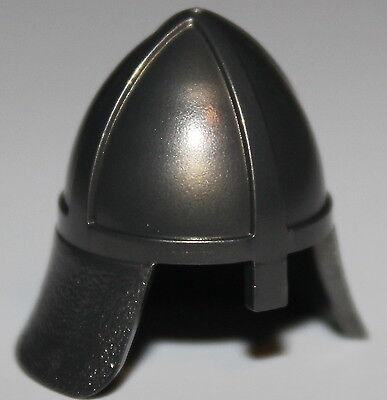 Lego 50 New Pearl Dark Gray Minifigure Headgear Castle Helmets Castle Eye Slit