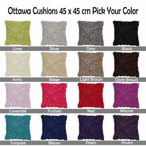 16-Color-Choice-OTTAWA-Shaggy-Tuft-Style-Filled-Scatter-Cushion-45cm-x-45cm