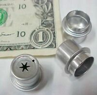 Lot 25 Candle Table Lamp Wick Holders, Liquid Wax, Star Type P0026 Aluminum,