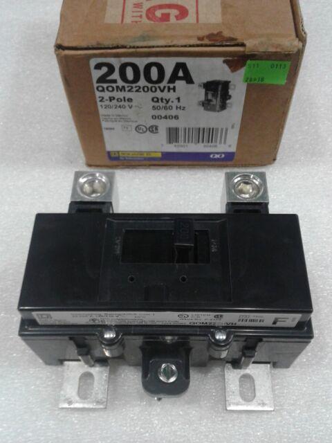 HOM2200BB new in box 200 amp 2 pole circuit breaker hom2200 square d homeline