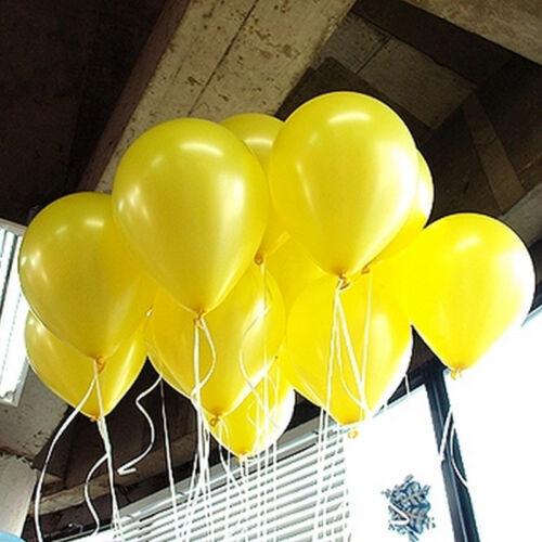 10-100 Globos Helio Calidad del Aire Metálico Perla Fiesta balones cinta que se encrespa
