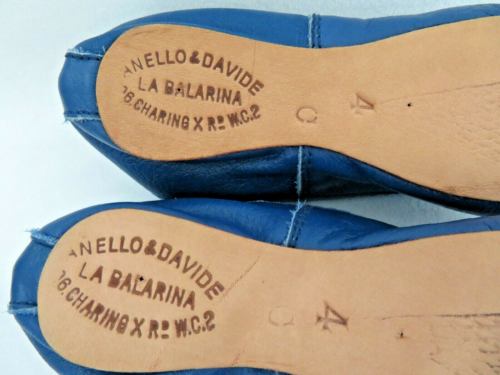 Vintage Anello & Davide England Blue Leather BABY… - image 6