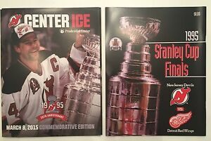 low priced a6693 aa255 Details about New Jersey NJ Devils 1995 Stanley Cup Champions 20th  Anniversary Program 3/8/15