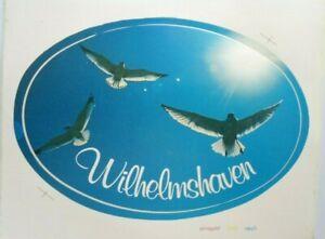 Souvenir-Aufkleber Wilhelmshaven North Sea Lower Saxony Seagulls Port 80er