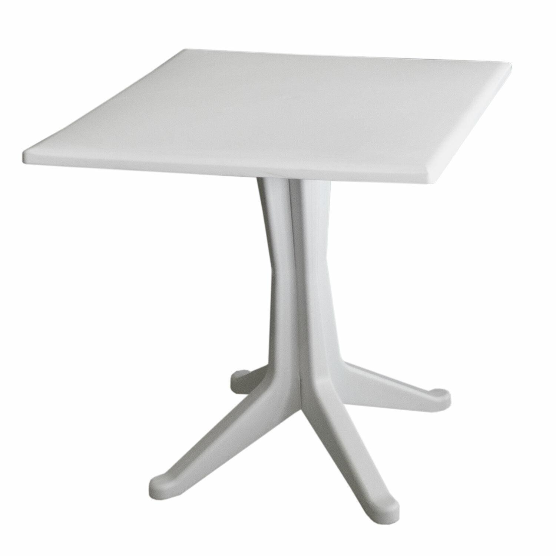 Gartentisch Bistrotisch Campingtisch Ponente 70x70cm Kunststofftisch - Weiß