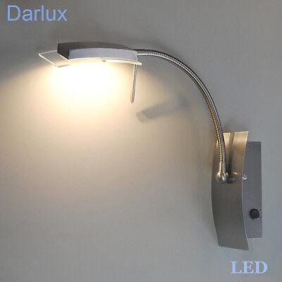 Wandleuchte LED Wandlampe Flexarm Leseleuchte Leselampe Schalter 6,4W Citizen