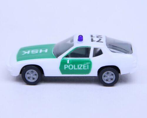 """Herpa 1:87 Porsche 924 HSK /""""Polizei/"""" grün-weiss ohne VP RB9706"""