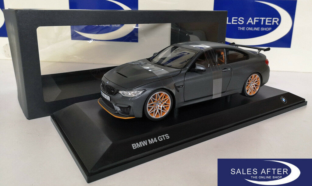 Original BMW Miniature m4 f82 GTS Frozen Dark gris 1 18 Voiture Miniature Modèle de collection