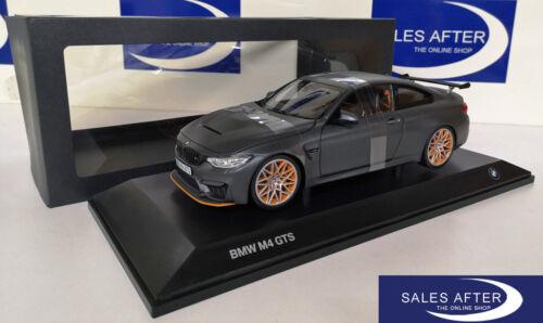 Original BMW Miniature m4 f82 GTS Frozen Dark Grey 1:18 Voiture Miniature Modèle de collection