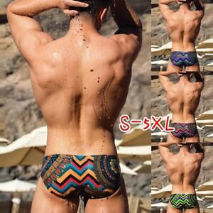 Men-039-s-Swimwear-Briefs-Short-Pants-Printed-Swim-Summer-Beach-Shorts-Swim-Trunk
