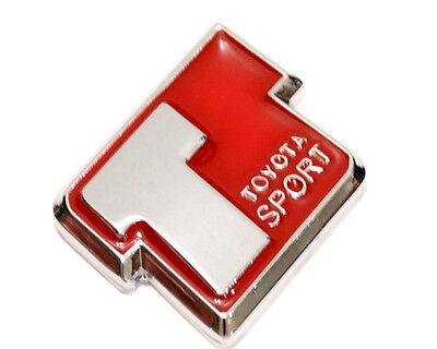 T Sport Red 3D Logo Sign EMBLEM DECAL Badge Chrome Toyota SUPRA COROLLA 86 JDM