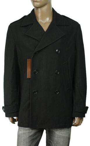 $255 NEW MENS PERRY ELLIS WOOL BLEND BLACK COAT JACKET XXL