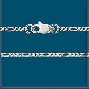 LOT-3-Sterling-SILVER-925-1x3-FINE-FIGARO-CHAINS-18-034