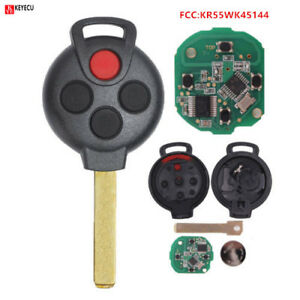 New W// Oem Factory Electronics Mercedes Benz Smart Car Fortwo Remote Key Fob