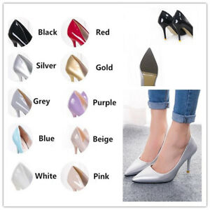 Women-039-s-High-Heels-Pointed-Toe-OL-Lady-Wedding-Stilettos-Patent-Leather-Shoes