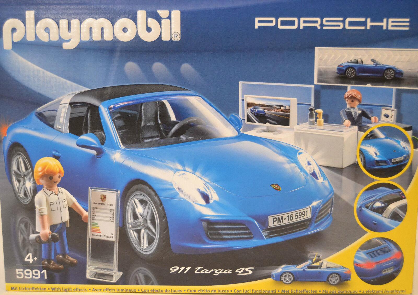 Playmobil 5991 Porsche 911 Targa 4S with Figures New & Orig. Box