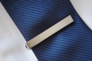 Argent Brut Cravate Pince Broche 5.8cm Par Frederick Thomas Ft335