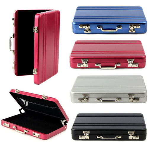 Fashion Portable Mini Briefcase Suitcase Business Name Card Case Box Holder