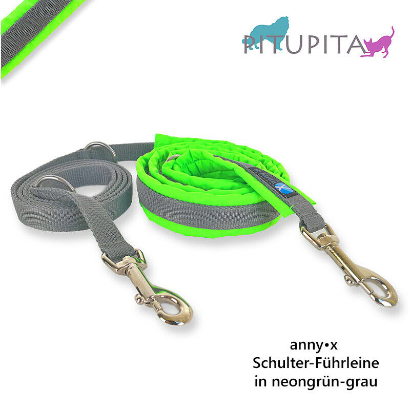 AnnyX Führleine verstellbar PROTECT PROTECT PROTECT Sonderfarbe neongrün grau grün Anny-X  | Stil  9e2a15
